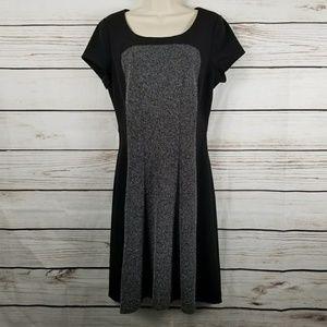 WHBM | Tweed Color Block Midi Dress